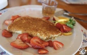 Le dessert de notre déjeuner à Solvang dans le comté de Santa Barbara en Californie