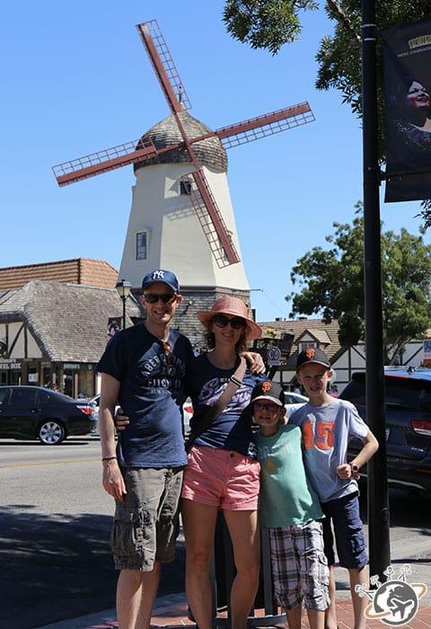 Un moulin à Solvang dans le comté de Santa Barbara en Californie