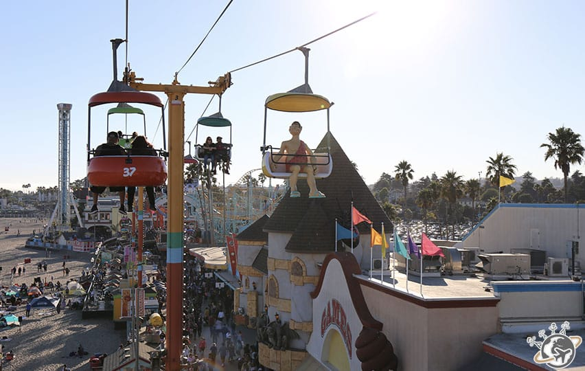 Le Boardwalk de Santa Cruz en Californie