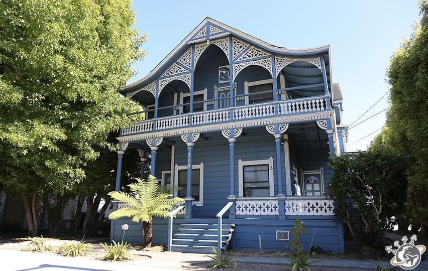 Les maisons de Santa Cruz en Californie