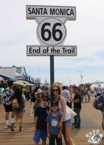 La fin de la route 66 à Santa Monica en Californie