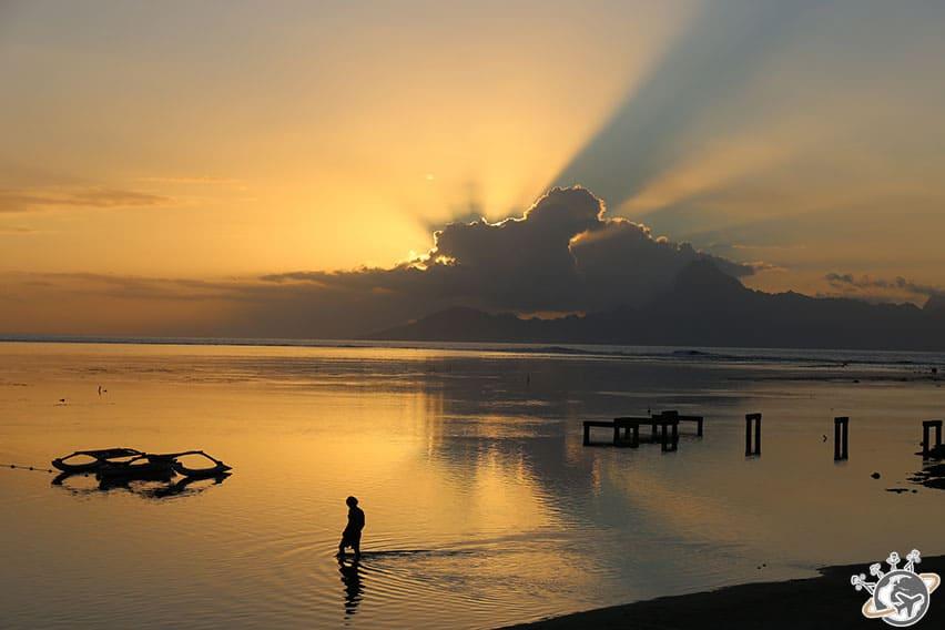 Coucher de soleil tahitien