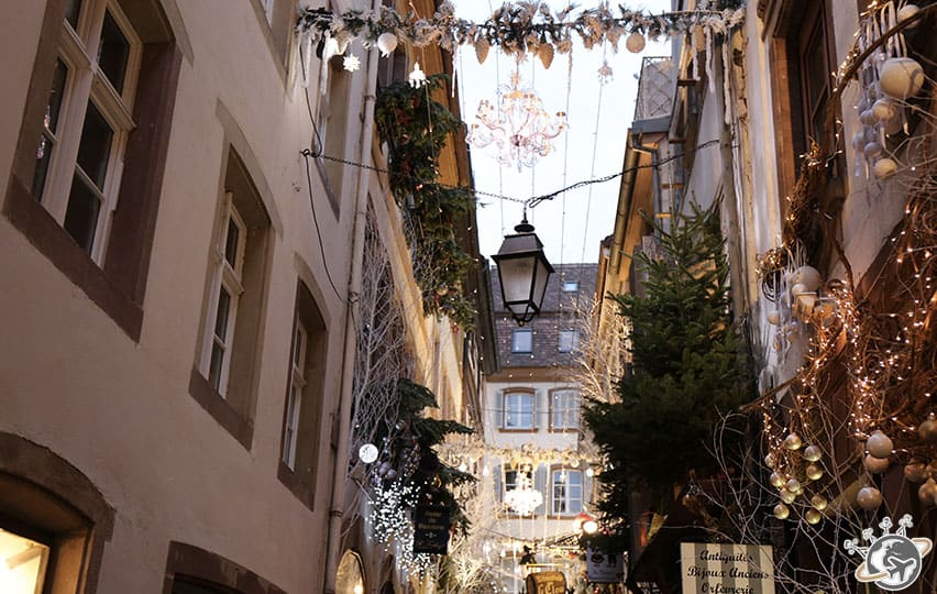 décorations et illuminations dans les rues de Strasbourg