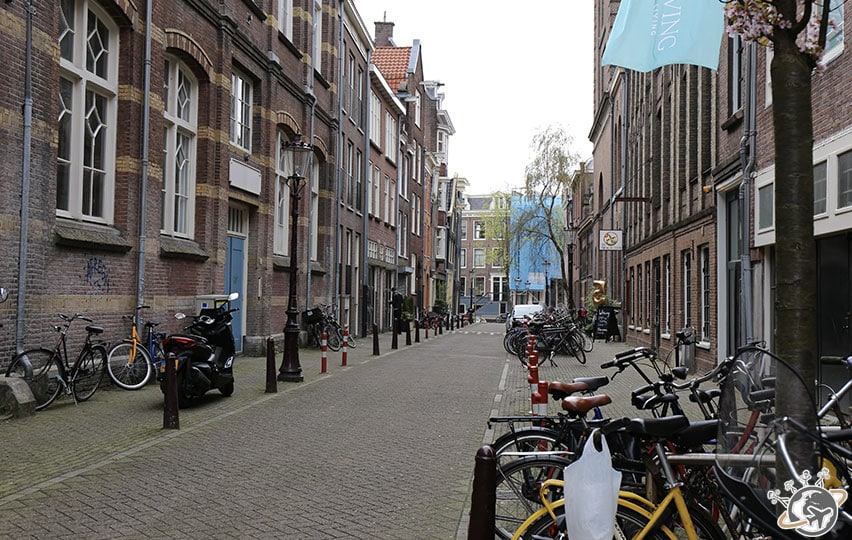Les maisons dans notre rue à Amsterdam, Utrechtsedwarstraat !