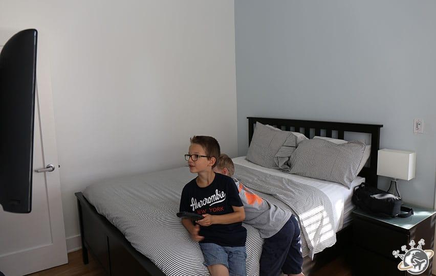 La chambre de notre apparthotel à Venice Beach à Los Angeles en Californie