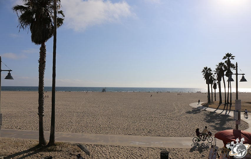 La vue de notre apparthotel à Venice Beach à Los Angeles en Californie