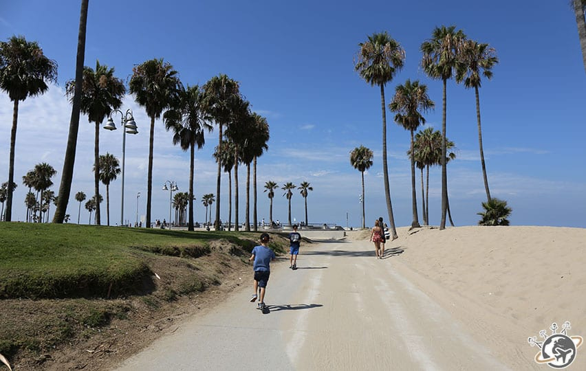 Venice beach en trottinettes