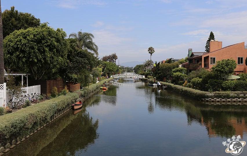 Les canaux de Venice Beach à Los Angeles en Californie