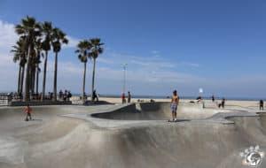 Le skate park de Venice Beach à Los Angeles en Californie